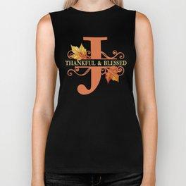 Thanksgiving J Monogram Biker Tank