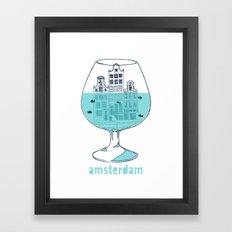 Amsterdam in a glass Framed Art Print