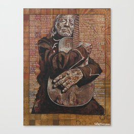 Willie's Guitar Canvas Print