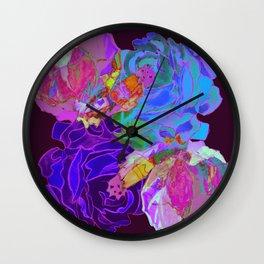 roses meli melo 2 Wall Clock