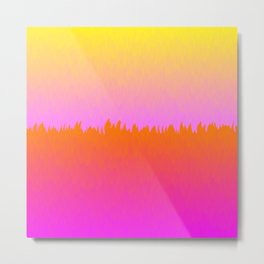 Triple Ombre Magenta Orange Yellow Tropic Sunrise Sunset Metal Print