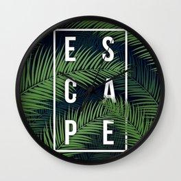 Tropical Escape Wall Clock