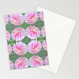 252 - Pink Flower Pattern Stationery Cards