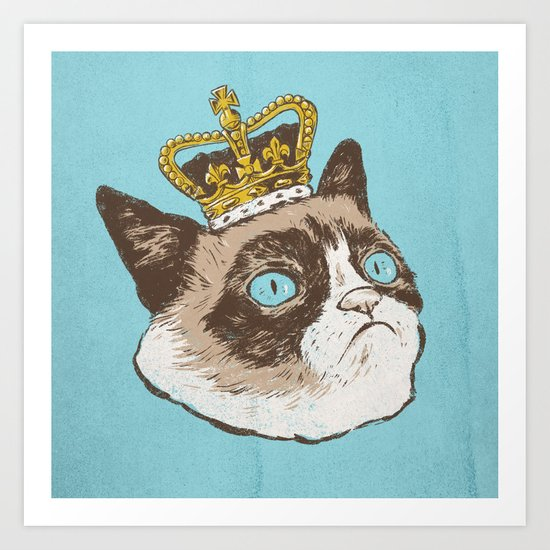 Grumpy King Art Print