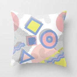 Memphis Geometric Pattern Throw Pillow