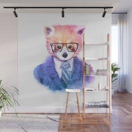 Cute fashion hipster animals pets red panda Wall Mural