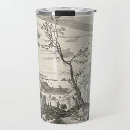 Landscape With Judah And Tamar Willem van Nieulandt II Travel Mug