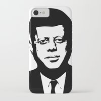 jfk iPhone & iPod Cases featuring JFK by b & c