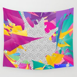 80s Abstract Wall Tapestry