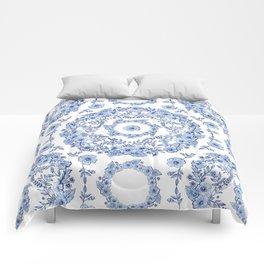 Blue Rhapsody on white Comforters