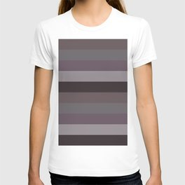 Winter purple stripes geometric colours horizontal lines pattern for home decoration T-shirt
