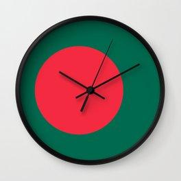 Flag of Bangladesh, High Quality Image Wall Clock
