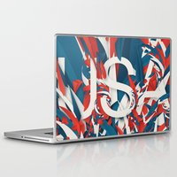 usa Laptop & iPad Skins featuring USA by Danny Ivan