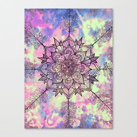 Galaxy Tree Mandala Canvas Print