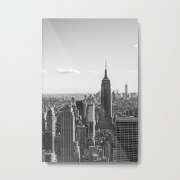 Empire State Building and New York City Metal Print