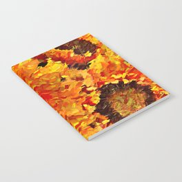 Sunflowers Abstracted Notebook