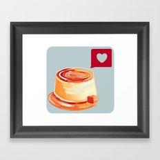 Caramel Heart Flan Framed Art Print