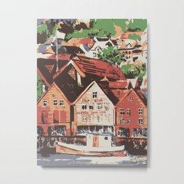 Old warf of Bergen Norway Metal Print