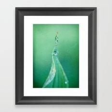 Cool green water Framed Art Print