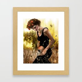 Persephone and the Bees Framed Art Print