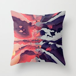 Battle of the Colors Throw Pillow