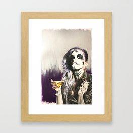 Catrina Sugar Skull Framed Art Print