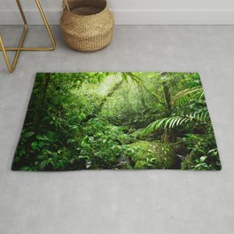 Warm Glow Rainforest Creek Rug