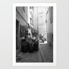 Cassis street Art Print