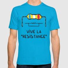 Vive la Resistance Mens Fitted Tee Teal MEDIUM