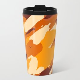 brown yellow and dark brown painting abstract background Travel Mug