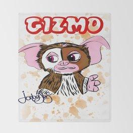 GIZMO - GREMLINS ILLUSTRATION  Throw Blanket