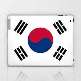 South Korean flag - officially the Republic of Korea, Authentic version - color and scale Laptop & iPad Skin