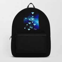 Virgo Constellation in Blue Topaz - Star Signs and Birth Stones Backpack