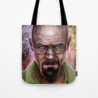 heisenberg Tote Bags featuring Heisenberg by Isabella Morawetz