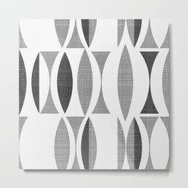 Seventies Black and White Metal Print