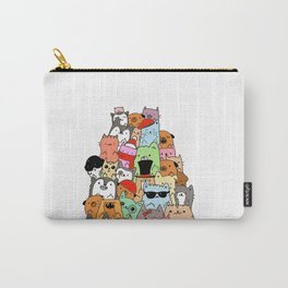 Cute Cats and Dogs Doodle Carry-All Pouch