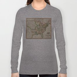 Vintage United States Map (1822) Long Sleeve T-shirt