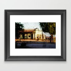 Train Station Color Framed Art Print