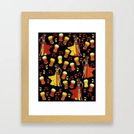 Belly Dance Hafla Framed Art Print