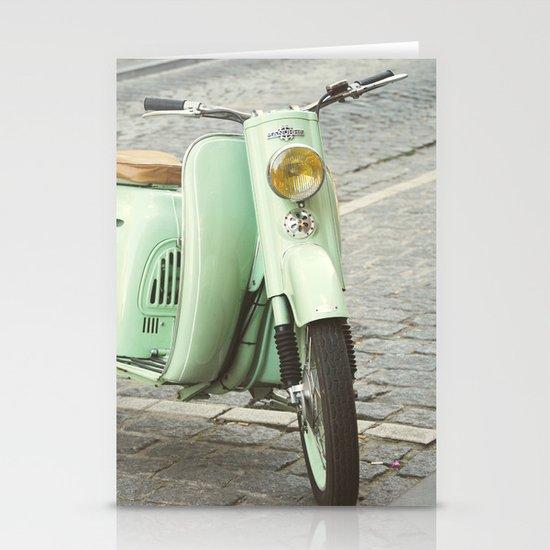Mint Moto Stationery Cards