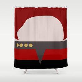 Captian Katherine Janeway - Minimalist Star Trek: Voyager VOY - trektangle - startrek trektangles Shower Curtain