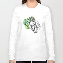 Rock Rose Cat Skull Long Sleeve T-shirt
