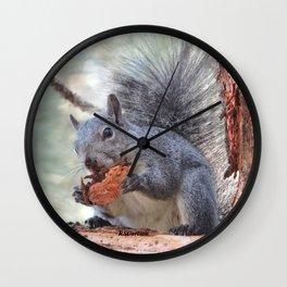 Squirrel Snack Wall Clock