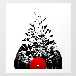 Vinyl shatter Art Print