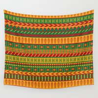 mexican Wall Tapestries featuring mexican pattern by los_ojos_pardos
