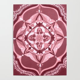 Radial 19 - Pink Poster