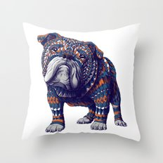 English Bulldog (Color Version) Throw Pillow