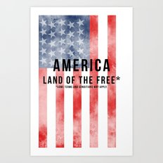 America: Land of the Free*  Art Print