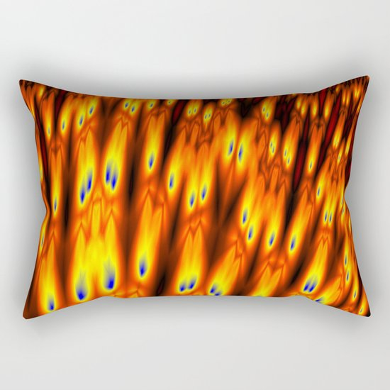 firebodies with blue eyes Rectangular Pillow