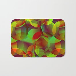 Vector abstract seamless background from space yellow and green bright circles and bubbles for fabri Bath Mat